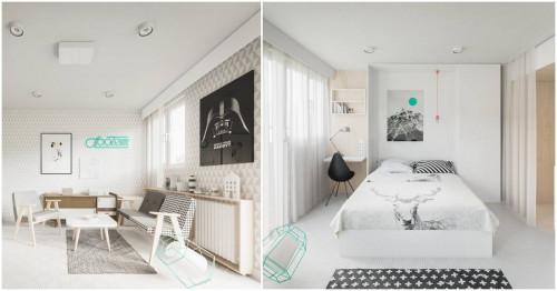Невероятно минималистично жилище, побрано в едва 50 кв. м.