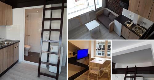Таван в София с 2 кв.м. кухня се превърна в модерно ателие (снимки)