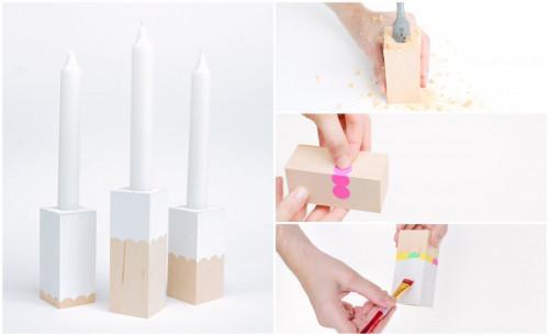 Направете си невероятни дървени свещници