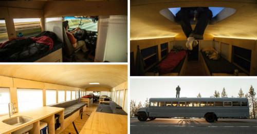 Уютен малък дом - новото лице на стар училищен автобус
