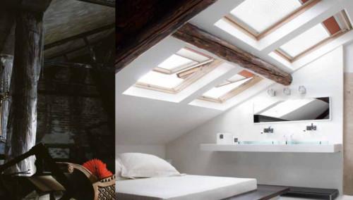 Как да превърнете тъмния и прашен таван в най-светлата стая в дома