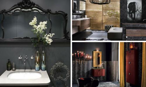 7 изключително стилни бани в тъмни тонове
