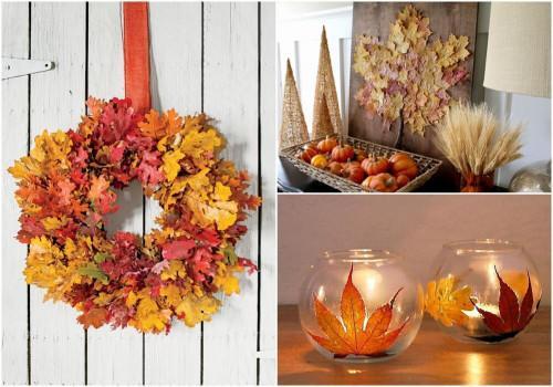 Феерия от падащи есенни листа – Множество идеи за оригинален интериор