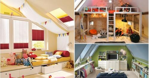 Как да превърнете таванското помещение в уютна детска стая?