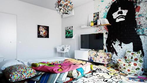 Графитите ще разчупят обстановката в елегантната спалня