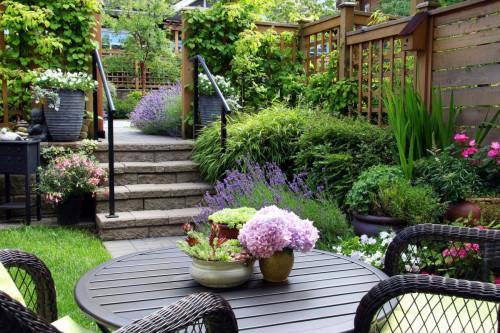 Правилно аранжиране на цветя в лятната градина