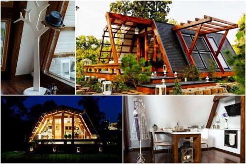 Очарователно еко жилище, изработено от рециклирани материали