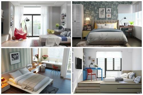 Няколко вдъхновяващи дизайнерски идеи за спални с работно помещение