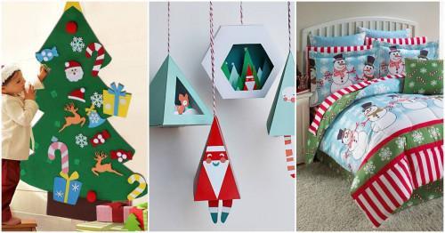 Koледна декорация за детската стая