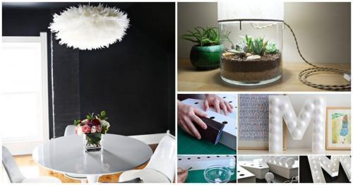 Превърнете подръчните материали в уникални осветителни тела за дома