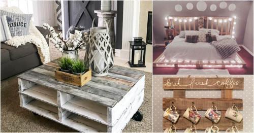 Красиви мебели от палети за всяка стая у дома