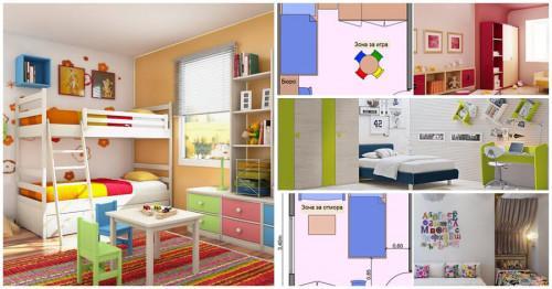 Как правилно да разположим мебелите в детска стая със средни размери?
