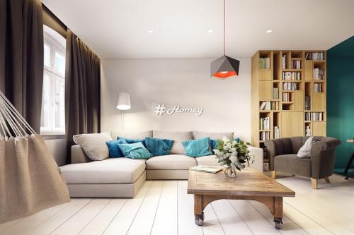Зашеметяващ апартамент с геометрични вдъхновения и изобилие от цветове