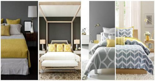 Преобразете спалнята чрез цвят, аксесоари, мебел