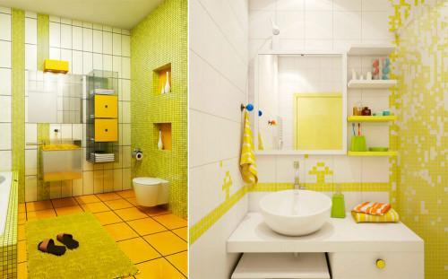 Придайте очарование на своята баня в жълто