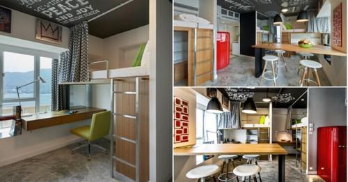 Модерно и практично: мини студентско общежитие в Хонг Конг