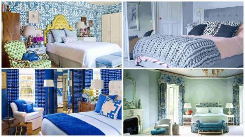 4 нюанса синьо в спалнята