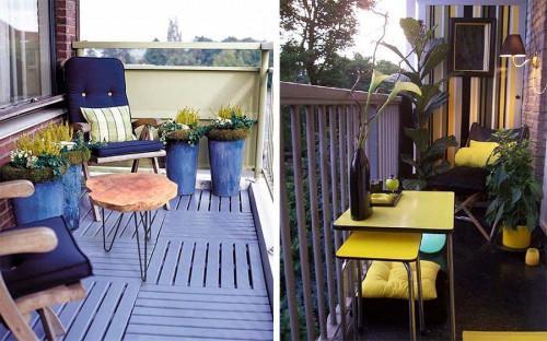 Мебели за малък балкон