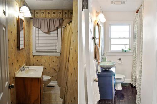 Преди и след: впечатляващо преобразяване на малка баня