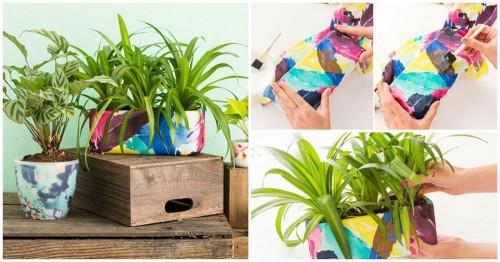 Направете саксиите цветни и интересни в 4 лесни стъпки