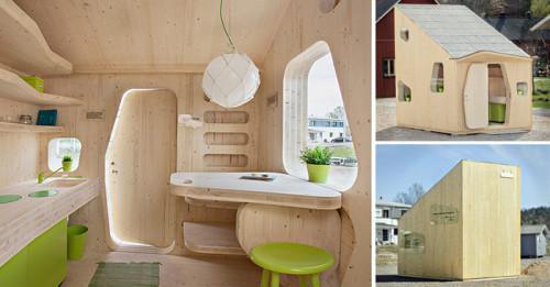 Компактни дървени къщи за студенти