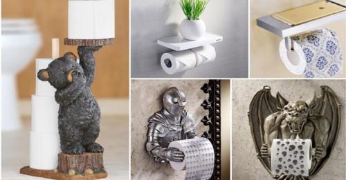 Уникални забавни поставки за тоалетна хартия