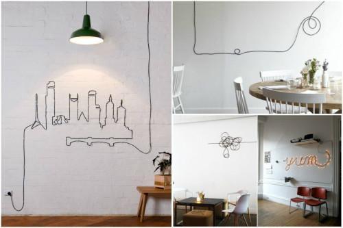 Превърнете стърчащите кабели у дома в истинско изкуство
