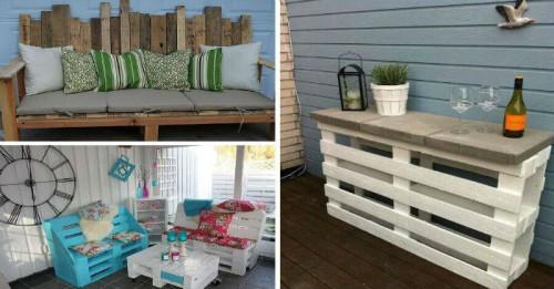 Внесете уют в градината с чаровни мебели от палети