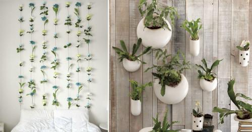Как да си направите сами флорална украса за стена