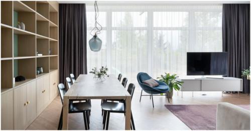 Малък апартамент с елегантна и минималистична визия