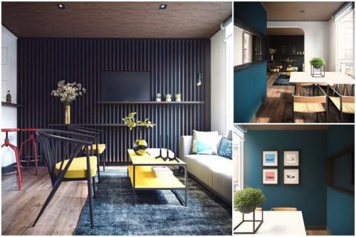 Невероятен интериорен дизайн на апартаменти в 44 кв. м.