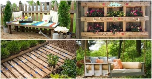 5 красиви идеи за градински декорации от палети