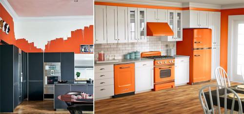 Оранжевият цвят в кухнята