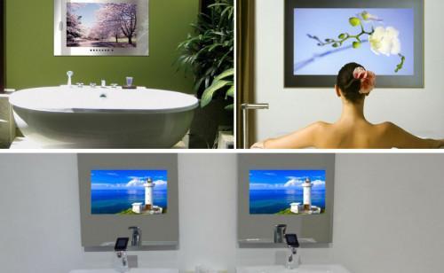Впечатляващи хай-тек огледала за баня