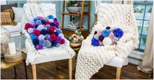 Направи си сам: цветна възглавница от помпони