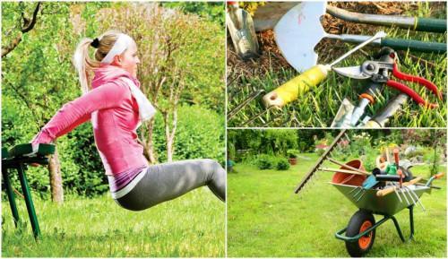 Фитнес в градината? Лесно и достъпно с градинарски инструменти!