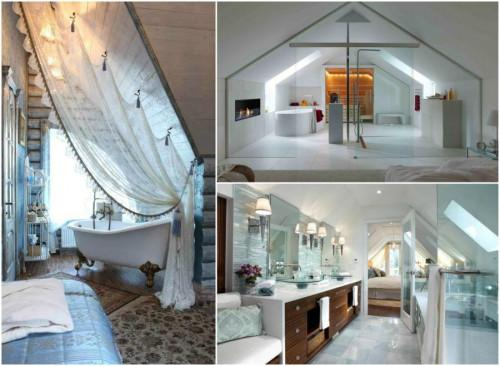10 елегантни бани за вашата мансарда