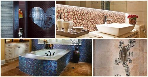 Интериорни шедьоври с мозайка в банята