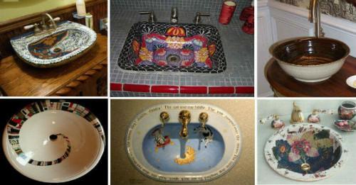 Започнете деня си красиво с изрисувани мивки за баня