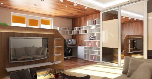 Идеи за интериорен хол с работна зона