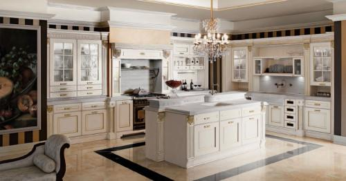 Кухня в стил ампир: дворцов лукс с практични решения