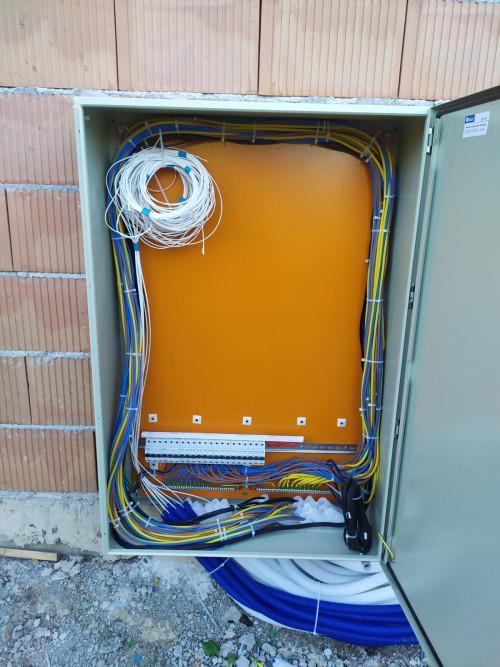 Изграждане на захранване ел.табла, LAN мрежа.