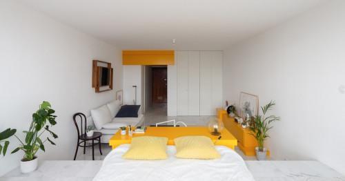 Комбинация за смели мечтатели – жълто и бяло в интериора