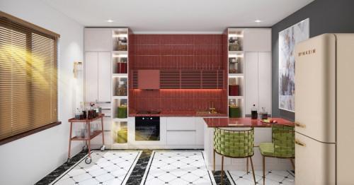 5 страхотни кухни в червено