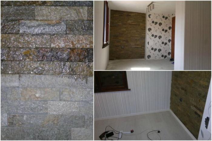 Винили и ивайловградски камък за стените