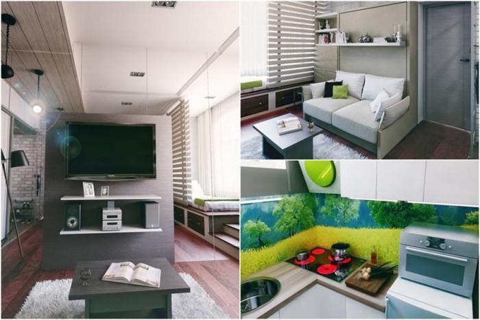 Модерно жилище, побрано в невероятните 21 кв.м.