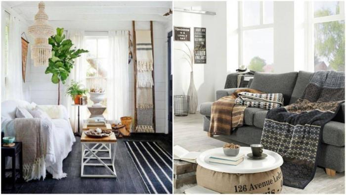Във всекидневната: Разпръснете одеялата из стаята