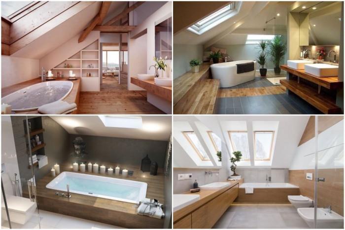 Мансардното студио е перфектно за нетрадиционна интересна баня!