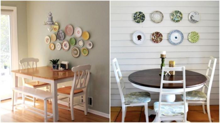 В трапезарията: Декорирайте стените с чинии