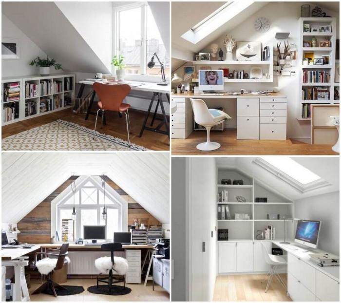 Чудесен малък офис на тавана!